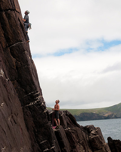 rocking climbing in dingle